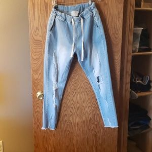Draw string jeans